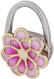 eDealMax Patrón Floral Matal monedero de las Mujeres del bolso del gancho de la suspensión Titular