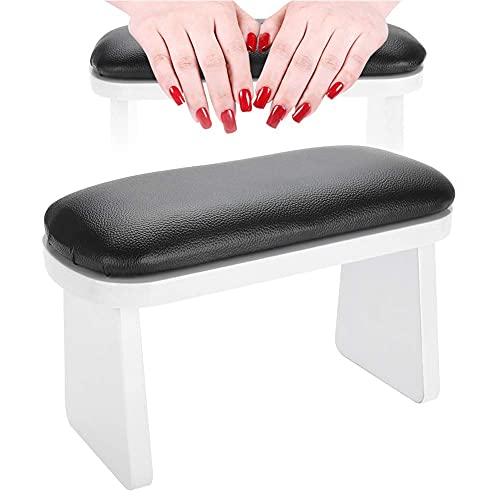 Manikuere Kissen Handauflage Nageldesign Kunstleder Maniküre Tisch Maniküre Handkissen Nagelkunst Handauflage Armauflage Nagelpflege Pad für Nageltechniker Anfänger Salon Heimgebrauch (schwarz)
