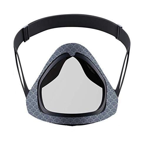 AJO Protección de la Cara Protector de Cara removible Rotación de máscara Transparente Prevenir Saliva Splash Prevenir Bacterias