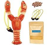 Schleuder Zwille Steinschleuder für Kinder, Handgefertigte Holz Schleuder Katapult mit Ersatz Gummiband und Weicher Munition, Für Durable & Jagd Praxis den Spaß im Freien Spielzeug (Shrimp)