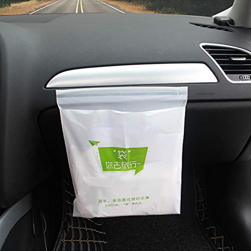 WENTS Auto Mülleimer - 45 Stück Einweg Auto Müllsack große Kapazität mit Einem Keine Spur starken klebrigen Streifen tragbaren Müllsack bequem für Auto, Büro und Zuhause