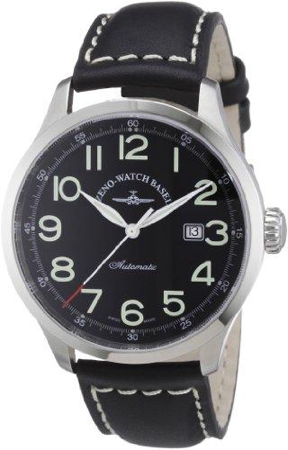 Zeno Watch Basel 6569-a1 - Reloj analógico automático para hombre con correa de piel, color negro