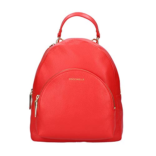 Coccinelle Alpha Backpack in Pelle (Polish Red)
