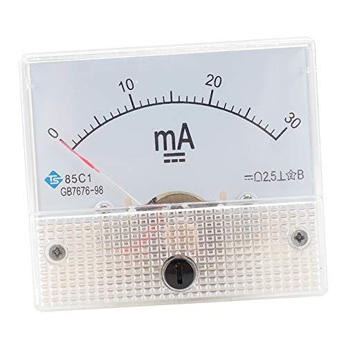 F Fityle Ampermetro medidor de Panel de de amperios CC, 1mA CC, 2mA, 3mA, 5mA, 10mA, 30mA, 50mA, 100mA, 200mA, 300mA, 500mA, 500mA - 0-30MA