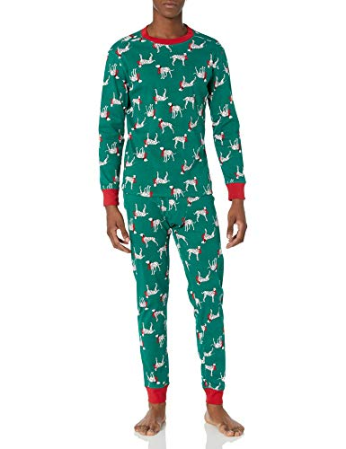 Amazon Essentials Men's Knit Pajama Set, Christmas Dog, Medium