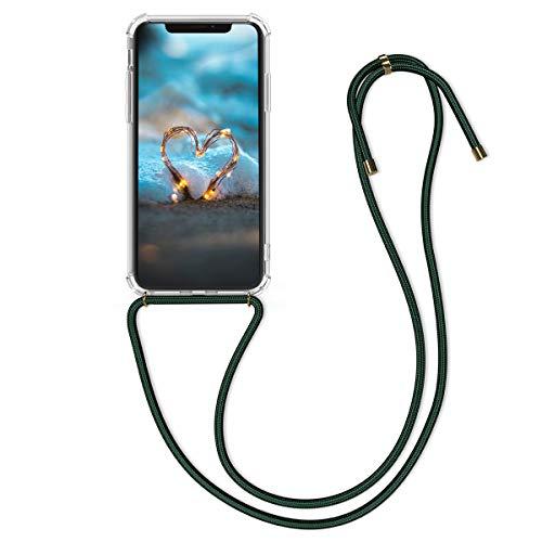 kwmobile Cover a Tracolla Compatibile con Apple iPhone XS Max - Back Case in Silicone Cover con Laccio per Il Collo - Custodia con Cordino