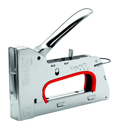 Rapid Handtacker R353, Tacker für Holz und Stoffe, Leistungsstark, Komplett aus Stahl, für Klammern Typ 53, 6-14mm