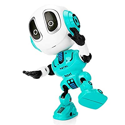 Sopu Talking Robot Toys Repeats What You Say Kids Robot Toy Metal Body Robot with Repeats Your Voice, Colorful Flashing Lights and Cool Sounds Robot Interactive Toy for Boys and Girls Gift from Sopu