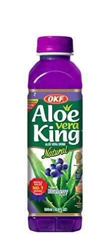 OKF Aloe Vera Getränk Blauberre / 20er Pack von 500 ML / natürlicher und frischer Geschmack / Premium-Getränke aus Südkorea