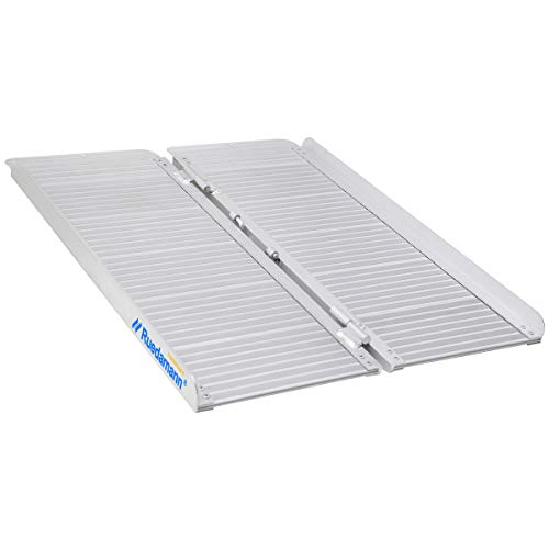 Ruedamann Threshold Ramp 3ft for Home Steps,Stairs,Doorways,Mobility Scooter, Folding Ramp for Wheelchair (MR607-3)