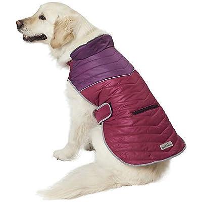 PetRageous Snowfield Dog Vest Small Dark Magenta