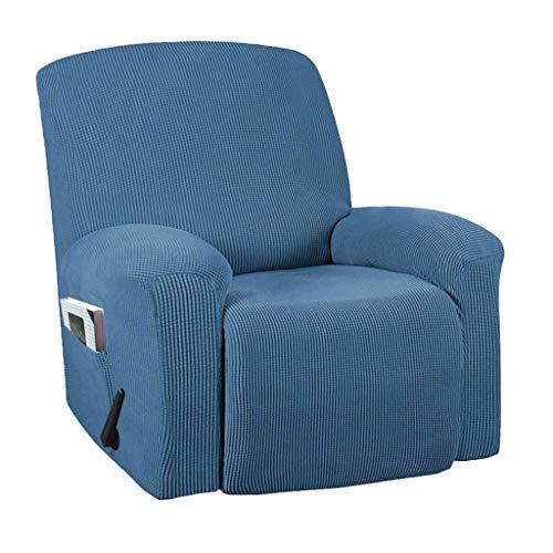 Funda de sofá elástica Funda de sofá elástica Fundas de sofá para Sala de Estar Mascotas Funda de sofá Fundas de Silla reclinable-Azul