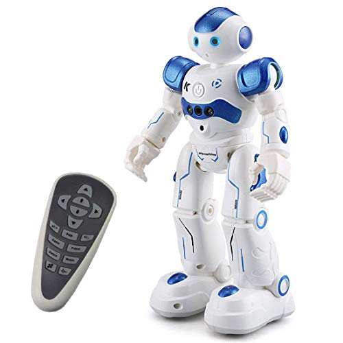 Threeking Robots Toys Gifts for 8+ Years Old Kids RC Robot Toys Programmable Smart Sensing Music Robot Toys Birthday Gifts Presents Indoor Toys for Kids - Male Voice