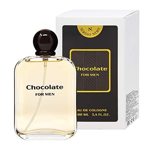 SERGIO NERO • CHOCOLATE Eau de Cologne (Acqua di Colonia) da uomo • Fragranza dolce gourmet per Lui (100 ML)