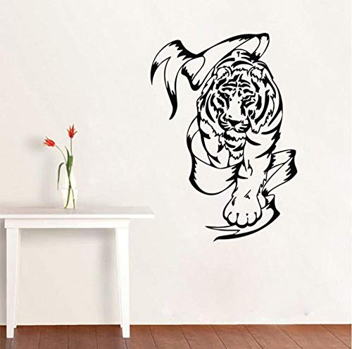 WVOVW Tiger Wall Decals Vinyl Adhesive Animal Sticker Home Decoration Accessories Self Adhesive Wallpaper Boys Room Decor 44cm X 63cm DS1523