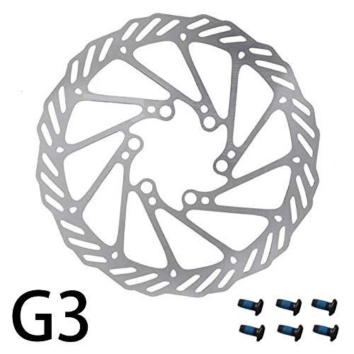 HHF Accesorios de Bicicleta Disco HS1 G3 Freno con 6-Tornillo, 160 milímetros 180 milímetros de Bicicletas Disco de Freno (Color : G3 180MM 1PCS)