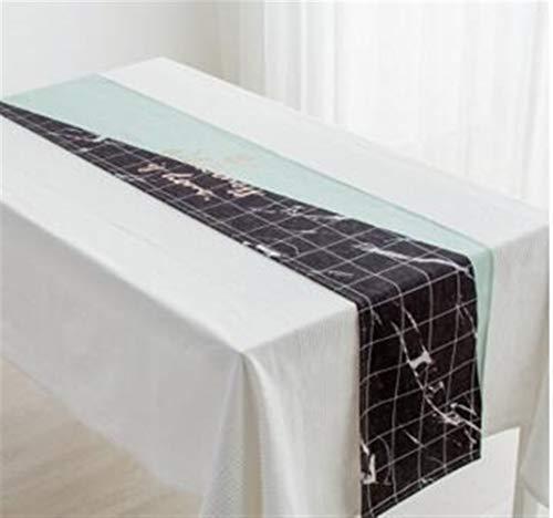 Xiaoxiaoyu tafelkleed tafelvlag tafelloper katoen linnen mintgroen geometrisch tafelkleed TV salontafel kleed bedloper kan groothandel zijn