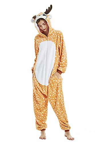 sdtdia Unisex Unicornio Pijamas Franela Novedad Cosplay Pijamas Disfraces de Animales Onesies