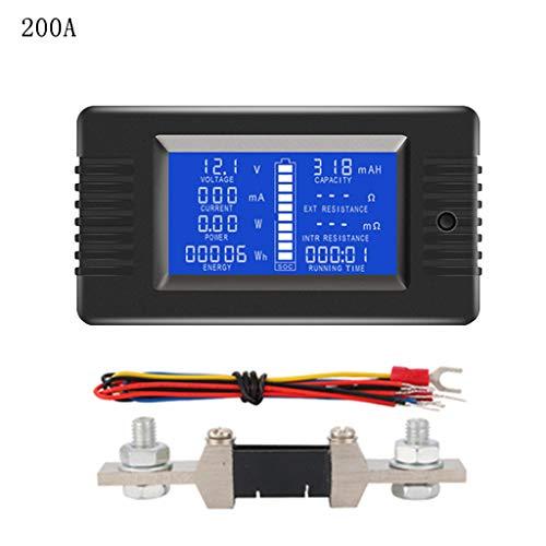 Preisvergleich Produktbild BASSK DC 0-200V 0-300A Batterietester Voltmeter Amperemeter Leistungsimpedanz Kapazität Energie Zeitmesser 50A / 100A / 200A / 300A Batteriemonitor
