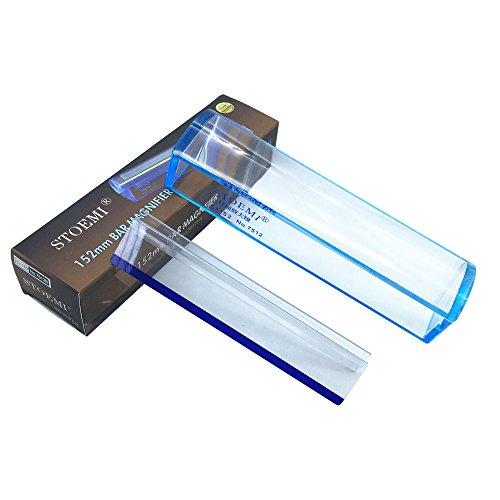 6 pulgadas 5X Lupa regla-lectura Azul (152mm) avec Línea Azul Seguimiento