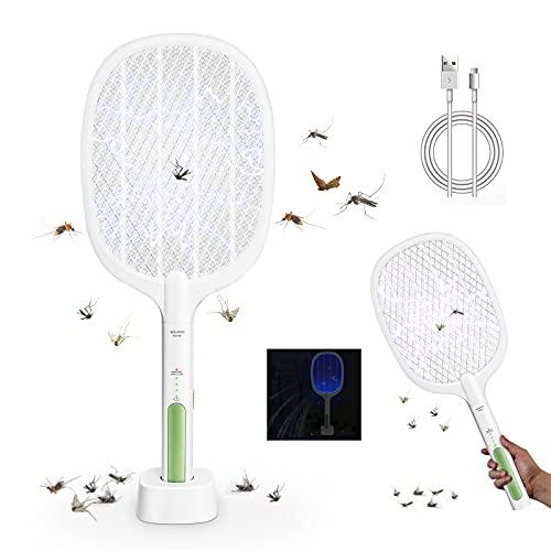 REKALRO Matamoscas eléctrico antimoscas,Electrico Matamosquitos, Plagas Insectos Asesino Repelente,recargable por USB, doble...