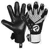 Precision - Guantes de portero de fútbol con agarre suave en la palma de la mano, guantes de portero profesionales, para adultos y jóvenes, nivel 1 (negro, 8)
