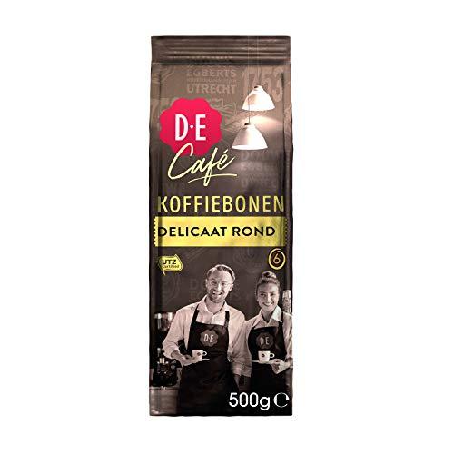 Douwe Egberts Koffiebonen D.E Café Delicaat Rond (2 kg, Intensiteit 05/09, 100% Arabica Medium Roast Koffie), 4 x 500 g