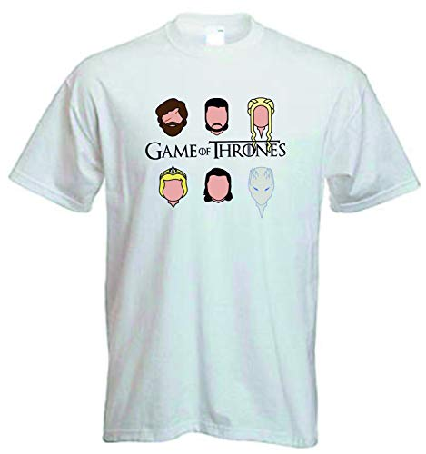 DrMugCollection Camiseta Juego de Tronos Faces (XXL)