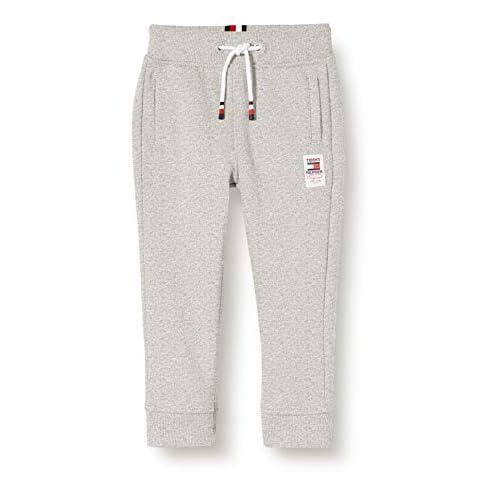 Tommy Hilfiger Essential Sweatpants Set 1 Pantaloni, Grigio (Grey P01), 134/140 (Taglia Produttore: 140) Bambino