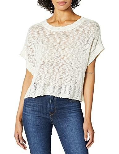 Jack Daniel Damen Couple's Retreat Dolman Sweater w/Back Strap Detail Pullover, gebrochenes weiß, S