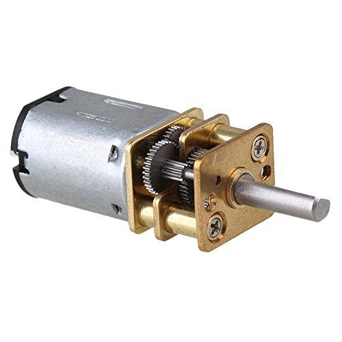 BQLZR 33x12mm Silber Metall GA12-N20 60 RPM Drehzahlreduktion Mini DC12v Getriebe Elektromotor Getriebe mit Getriebe