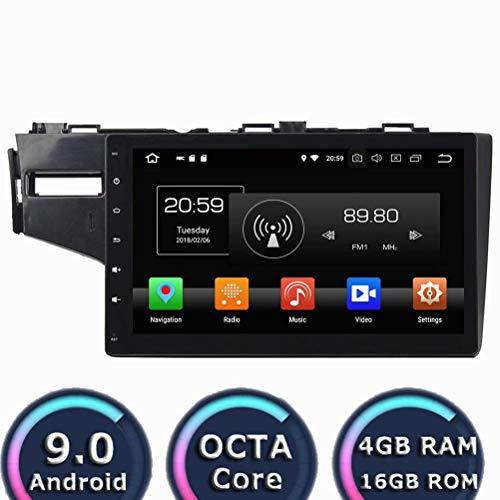 ROADYAKO Auto Radio pour Honda Fit 2013 2014 2015 2016 Android 8.1 Autoradio Stéréo avec Navigation GPS 3G WiFi Lien de Miroir RDS FM AM Bluetooth AUX Audio Vidéo