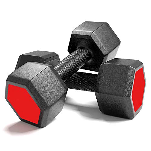 Dumbbell Sport Hexagon Dumbbell Set Home Gym Fitness Hexagon Dumbbell Kit Weightlifting Exercise for Weights Workout Lose Weight Body Sculpting Men and Women,4kg