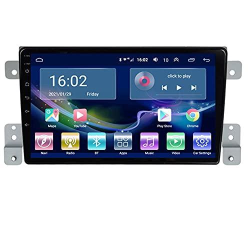 Estéreo Del Coche Radio De Navegación Por Satélite FM AM Reproductor Multimedia Android 10.0 Autoradio Pantalla Táctil Navegación GPS Para Suzuki VITARA 2005-2015 Soporte Bluetooth(Color:WIFI 1G+16G)