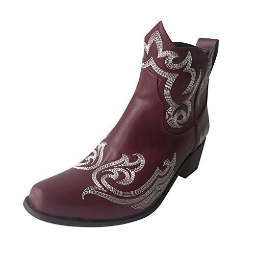 LILIHOT Damen Winter Herbst Stiefel Antike Benutzerdefinierte Knöchelseitige Flache Nackte Stiefel...
