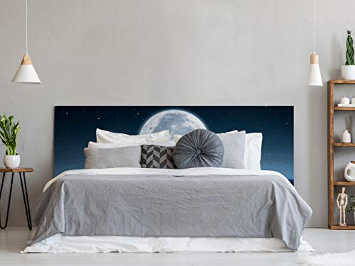 Cabecero Cama PVC Luna en Mar 135x60cm | Disponible en Varias Medidas | Cabecero Ligero, Elegante, Resistente y Económico