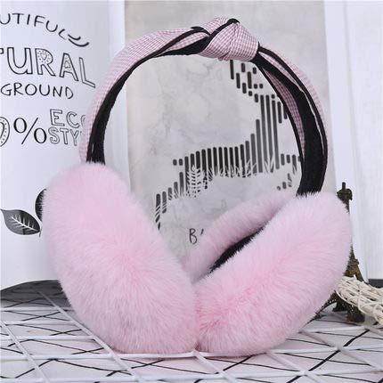 LLDKA Oídos Orejeras Equipadas Caliente y de Moda Femeninos Orejeras Arrugas de la Moda del Bolso Caliente del oído,Rosado