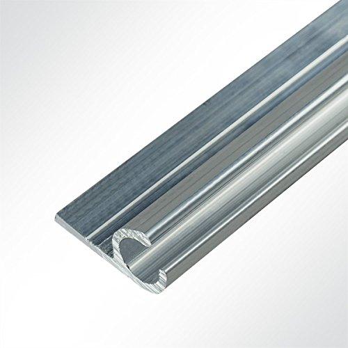 LYSEL® Kederschiene 15x30mm blank, Länge: 2 Meter, 45°, Grau, Durchmesser: 10mm für Keder 6-9mm
