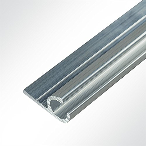 LYSEL® Kederschiene 15x30mm blank 1m 45° Grau Ø10mm für Keder 6-9mm