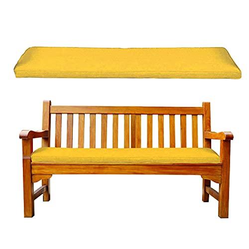 Cuscino per Panca Dondolo da Giardino Balcone Cuscino Lungo Panchina 100x50x5cm Cuscini per sedie per Panca da Esterno ed Interno panchine da Giardino per Dondolo Giallo Cuscini Grandi per Divano