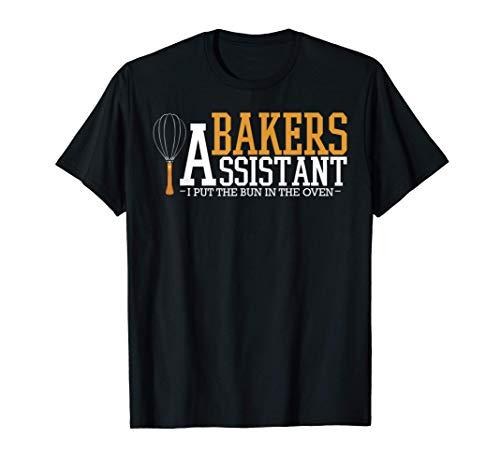 Bakers Assistant Cuocere forno Torta pane Cottura panettiere Maglietta