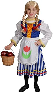 Little Girl Deluxe Dutch Girl Costume By Dress Up America
