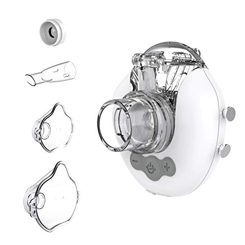 FEELLIFE Inhalator Vernebler für Kinder und Erwachsene, einstellbare Nebelgröße, tragbar, leise und aufladbar, Inhalationsgerät für Atemwegserkrankungen, für zu Hause oder unterwegs