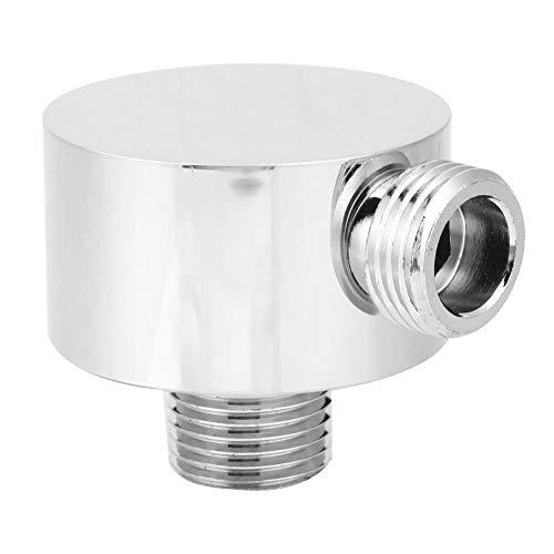 Codo de suministro de latón para montaje en pared para ducha de mano, conector de manguera de ducha de forma redonda G1/2 Codo de salida de ducha para ducha de mano
