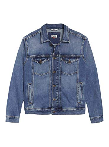 Tommy Hilfiger Regular Trucker Giacca in Jeans, Blu (Columbus Mid Bl Com 911), Small Uomo
