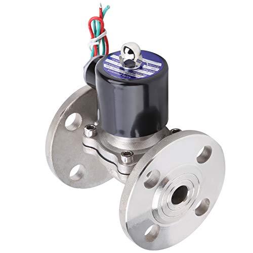 Qioniky Magnetventil Direkt wirkendes 1/2-Zoll-Luftmagnetventil Flexibler Edelstahl für die Industrie(DC24V)