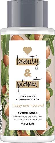 Love Beauty And Planet Happy and Hydrated Conditioner, für trockenes Haar Sheabutter und Sandalwood Oil silikonfrei, 1 Stück (400 ml)