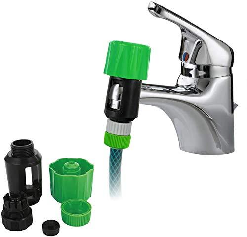 Jinxuny Wasseranschluss Universalhahn zum Gartenschlauch Rohrverbinder Mischer Küchenhahnadapter Wasserhahn Schlauchanschluss Schnellanschluss Standardhahnbelüfter Spüle Wasserhahn Abflussadapter