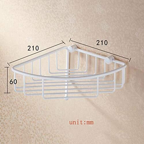 JIN Duradera de Almacenamiento en Rack de Hogares Plataforma de Baño Ducha Caducidad Todos Cobre Asado Pintura Blanca con un Solo Gancho Esquina/Baño Colgante/Jardín Basket Basket Rack