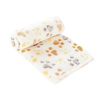 PET SPPTIES Doux Chaud Animal Molleton Couverture lit Mat Couverture Coussin Chien Chiot Animal Rouge 80x60cm 3 pièces PS016(Pink+Beige+Coffee,60cmx40cm)